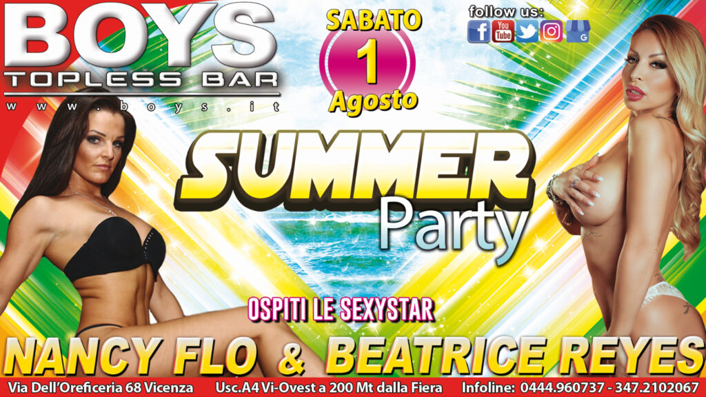 Summer Party con Beatrice Reyes e Nancy Flo